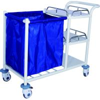 Best Enameled Steel Mobile Laundry Collecting Trolley For Home Use wholesale