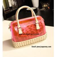 Best New Fashion Transparent + Leopard Silicone Handbag with 5 Different Color wholesale