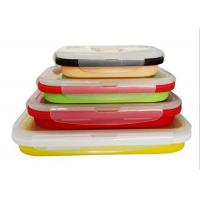 Best Four Unity Silicone Folding Students Microwave Lunch Box Food Grade FDA Silicone + PP wholesale