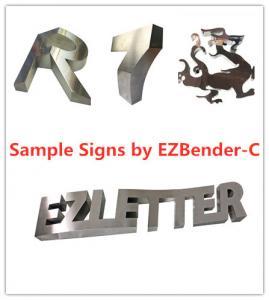 Best EZCNC Channel Letter Bending Machine/CNC Sheet Metal Machine auto feeding/slotting/cutting/bending of SS,GS,Aluminum wholesale