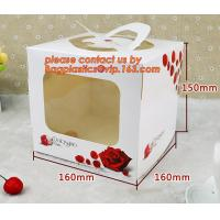 China Disposable paper cardboard birthday cake boxes, Food packaging white cardboard paper bakery cake box with good quality on sale