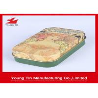 Best Chocolate Packaging Green Candy Gift Tins , YT1239 Chocolate Gift Boxes With CMYK Printed Lids wholesale