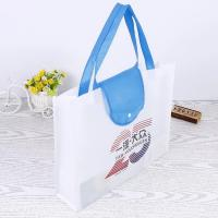Best Collapsible Recycle Foldable Shopping Bag / Blue Folding Grocery Bags wholesale