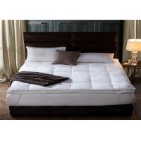 Best 200GSM 20% Polyester / 80% Cotton Hotel Bed Mattress Topper Queen Size wholesale