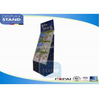 Cheap Cardboard Floor Book Display Stand , Stationery Retailing Display, Brochure Display Shelf wholesale