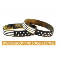 Best USA Rubber Wristbands Silicone Bracelet with American Flag in Black and Army Green for American Patriots wholesale
