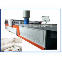 Color Graphic Display Textile Cutting Machine For Sofa Cushion , Chair Cover
