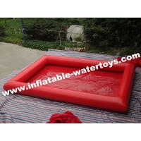 Red Plato PVC Tarpaulin Inflatable Water Pool 0.9MM for Water Roller