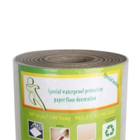 China Core Dia 76.5mm Width 823mm Single Ply Temporary Protective Floor Covering on sale