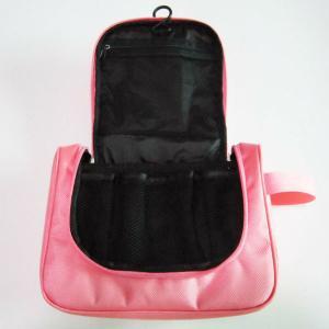 Best Cute Nylon Hanging Travel Makeup Bag Pink Color For Women Wash wholesale
