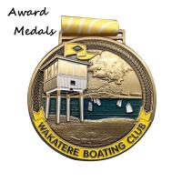 Best Antique gold plated metal boating club medals manufacturer from China wholesale
