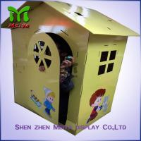 Cheap Retail cardboard coloring playhouse for children with CMYK Printing for sale