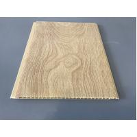 Best 10 Inch × 7.5mm PVC Ceiling / Wall Panel Peanut Wood Pattern Smooth Slab wholesale