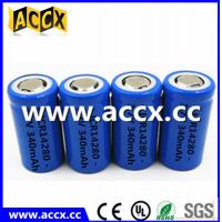 Cheap high quality icr14280 LED Lighting lithium battery 3.7V 340mAh 14280 rechargeabl for sale