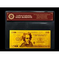 Best Gold art USA $20 gold dollar bill plated in gold 999.9 banknotes wholesale