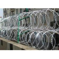 Best Hot Dipped Galvanized Coiled Razor Wire Zinc Coated High Tensile For Fence wholesale