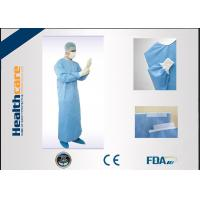 Buy cheap Anti - Fluid Nonwoven Disposable Sterile Gowns / Dental Protective Clothing Single Use from wholesalers