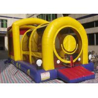 Best Train Shaped Obstacle Course Bounce House Lead Free For Kids Bouncy Play wholesale