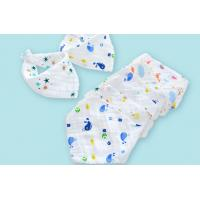 China 4 Layers 100% Comed Cotton Newborn Bibs With 45*30cm Size , OEM service natural muslin cotton baby bandana drool bibs on sale