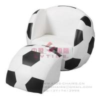 Cheap Soccer Ball Chair with Ottoman for sale