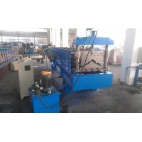 Hydraulic Metal Roofing Machines , Gutter Making Machine Wall Board Structure