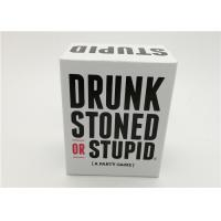 Best Light Weight Drunk Stoned And Stupid Game , Group Card Games For Adults wholesale