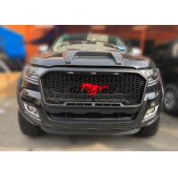 Best 2018 New Arrival Black Grille With LED For Ford Ranger PX2 2015-2017 Front Grill Mesh wholesale