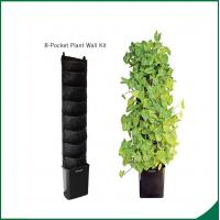 Best Eco Friendly 8 Pocket Vertical Garden Kit Wall Garden Growing Bags 25x13cm Felt material Black or as request wholesale