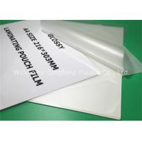 China Clear A4 Size Laminating Pouch Film Lamination Pouches For Document on sale