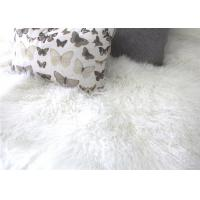 Best Tibetan Sheepskin Throw Blanket , Mongolian Fur Throw Blanket For Winter Coat wholesale