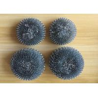 Best Galvanized Steel Wool Kitchen Sponge , Pot Cleaning Steel Wire Metal Scrub Pad wholesale