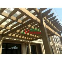 Best Beautiful DIY Garden Wall Mounted Pergola WPC Rot Resistance Recyclable 100% wholesale