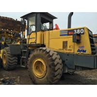 Cheap 187hp Second Hand Wheel Loaders WA380-3 , Komatsu Compact Wheel Loader 3.2cbm for sale