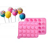 Best DIY 22.5*18.2cm Silicone Candy Molds For Lollipop  Biscuit Baking wholesale