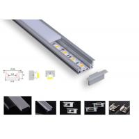 Best Strong Pc Led Aluminium Channel , Pcb 12.2mm Led Tape Channel For Floor Lighting wholesale