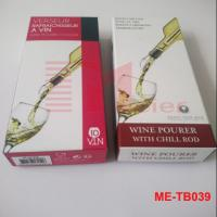 Best Color printed paper box for wine pourer with chill rod ME-TB039 wholesale