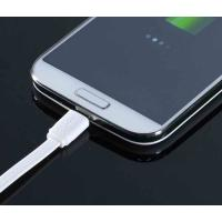 Best Flat Noodle TPE Micro Samsung Galaxy Charger Cable White For Data Transmission wholesale