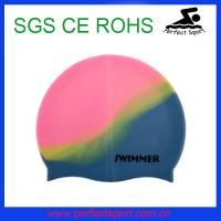 Cheap Speedo Hot seller Mix color silicone swimming cap for sale