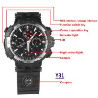 Best Y31 16GB 720P WIFI IP Spy Watch Hidden Camera Recorder IR Night Vision Home Security Wireless Remote Video Monitoring wholesale