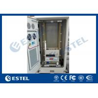 Metal Outdoor Telecom Cabinet , Network Enclosure Cabinet With Heat Exchanger / PDU