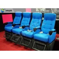 Best Bright Blue Electronic / Hydraulicz 4D Movie Theater Chair 4D Cinema Simulator wholesale