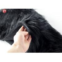 China silk black acrylic plush knitted fake fur fabric for garments on sale