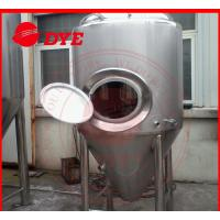 Best Manual Industrial Beer Brewing Equipment With Mash Tun , Conical Beer Fermenter wholesale