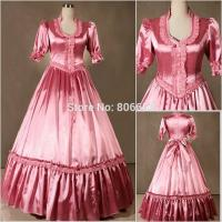 Best Wholesale Civil War Victorian Gothic Dress Ball Gown Southern Belle Dress Cosplay Costumes by Satin with XXS to XXXL wholesale