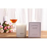 Best Decorative Luxury Scented Candles 100% Soy Wax Matte Glass Jar In White Color wholesale