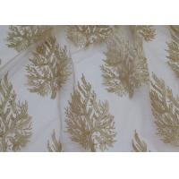 Best Embroidered Tree Gold Sequin Lace Fabric By The Yard For Wedding Bridal Evening Dress wholesale