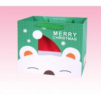 China custom printed christmas colored paper favor handbags wholesale factory on sale