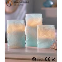 Best 3 Set Scented Battery Operated LED Candles with Seashell Starfish wholesale