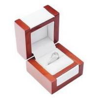 Best Elegant Jewelry Handmade Wooden Boxes , Solid Wood Jewelry Box With Long Lasting Leatherette wholesale