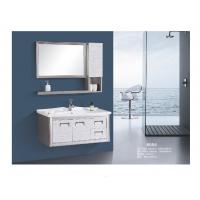 Best Stainless Steel Floating Bathroom Vanity With Drawers Two Doors Modern Style wholesale